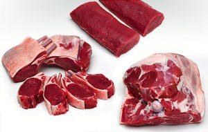 Lammfleisch Teile